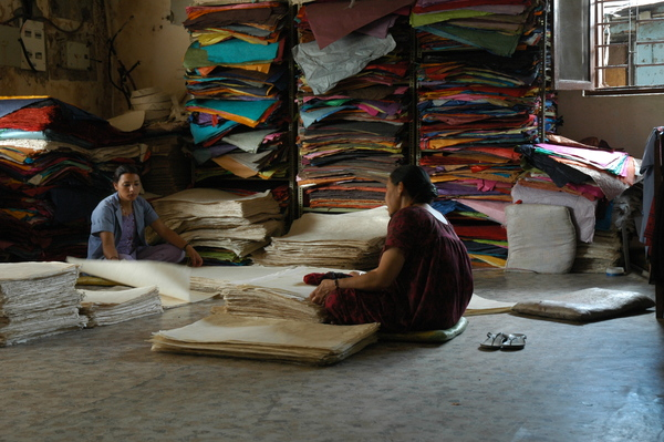 Manipulado de papel. Khatmandu