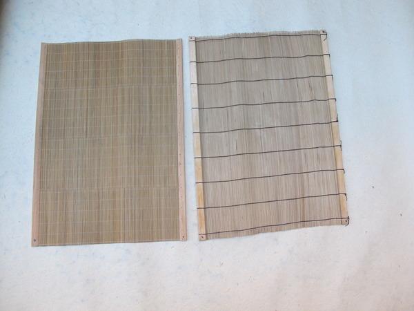 Mallas de bambú.